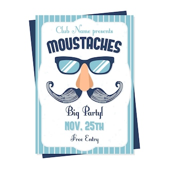 Дизайн плаката blue movember