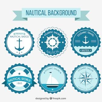 Blue nautical seals
