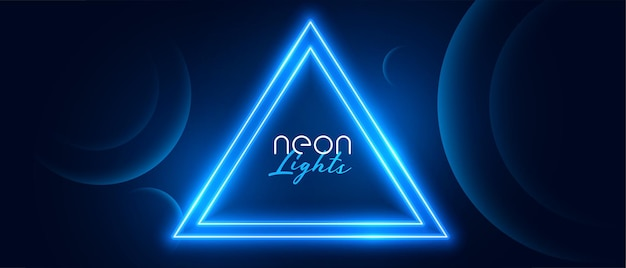 Blue neon circle light frame  design