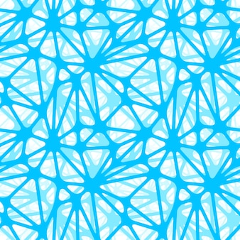 Blue neural net, seamless pattern wallpaper