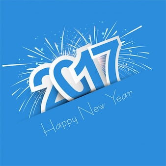 Blue new year 2017 background