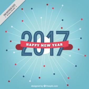 Синий фон новый год с лентой