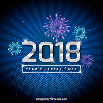 Blue new year background