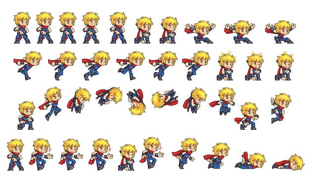 Blue ninja boyゲームスプライト