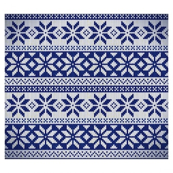Blue nordic fabric pattern