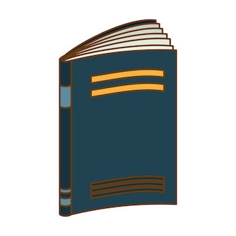 Blue notebook icon image design