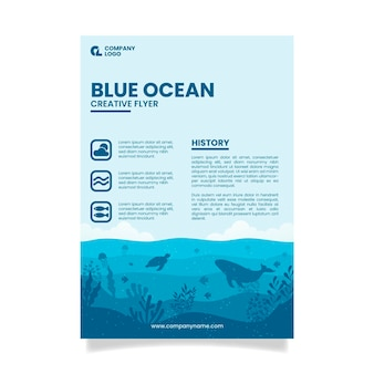 Blue ocean restaurant flyer