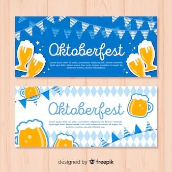 Blue oktoberfest banners