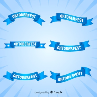 Blue oktoberfest ribbon collection