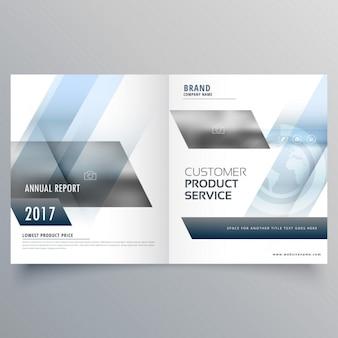 Blue open brochure