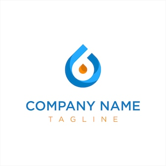 Blue and orange gas oil company logo
