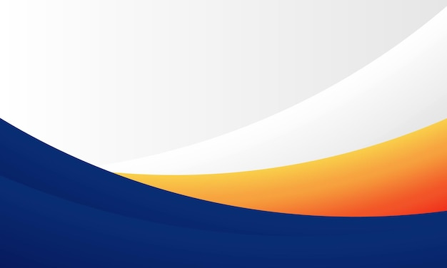 Blue, orange and white modern curve background. design for your business.