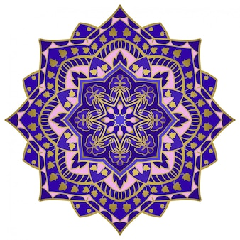 Blue oriental mandala.