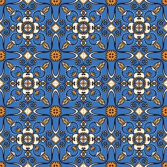 青い装飾パターン