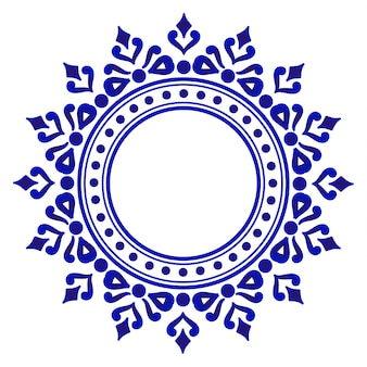 Blue ornamental round