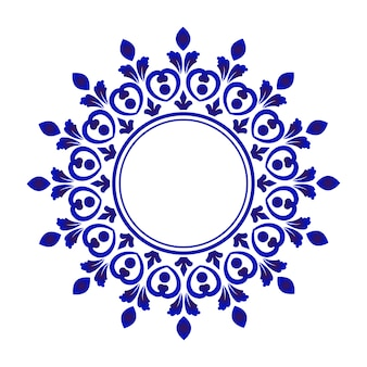 Blue ornamental round