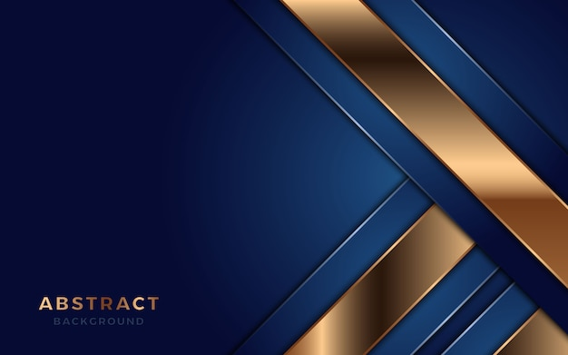 Blue overlap layer background with golden lines.