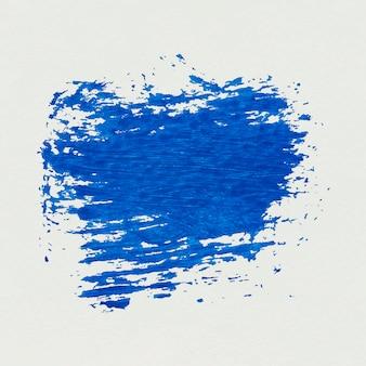 Blue paint brush stroke