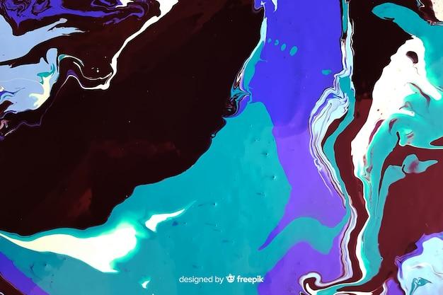 青いペンキ大理石のテクスチャ背景