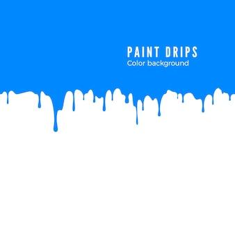 青いペンキの飛び散るイラスト