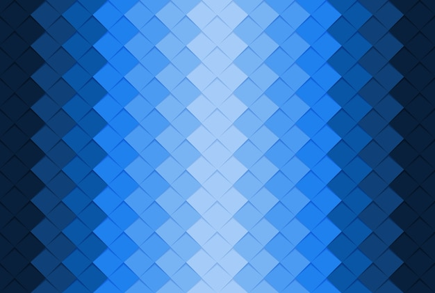 Blue paper square abstract background.