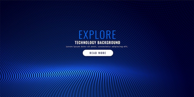 Blue particle mesh background design