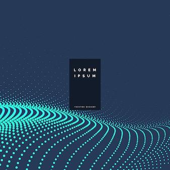 Blue particles technology background design