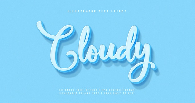 Blue pastel text style font effect