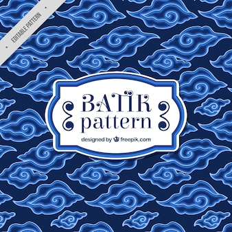 Blue pattern of abstract batik shapes