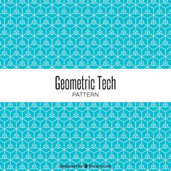 Blue pattern of geometric lines
