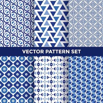 Blue pattern set