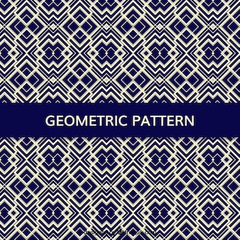 Blue pattern with geometric shapes