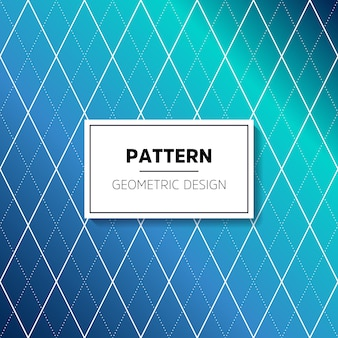 Blue pattern with rhombus