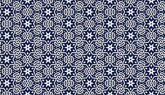 Голубой узор со звездами. праздник бесшовные модели. еврейская ночь шаблон с гексагональной звезд. идеально подходит для обоев или текстильных моделей дизайна.