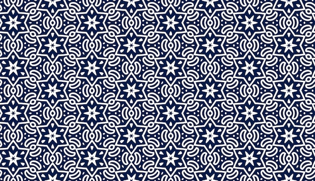 Blue pattern with stars. holiday seamless pattern. jewish night pattern with hexagonal stars. perfect for wallpaper or textile design patterns.