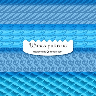 Blue patterns with wavy shapes