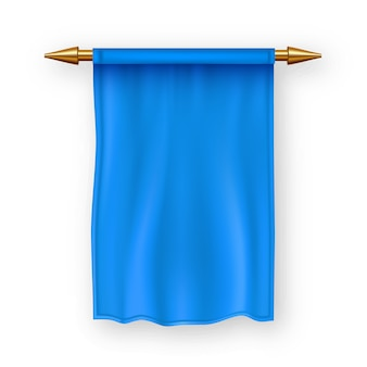 Blue pennat flag