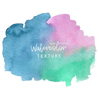 Синяя, розовая и зеленая акварельная текстура