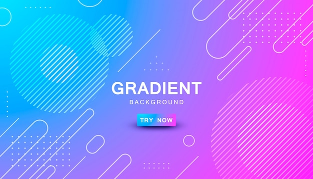 Blue and pink gradient geometric shape background