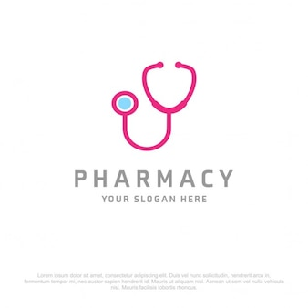 Blue and pink medical logo