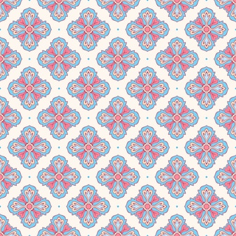 Blue and pink petals