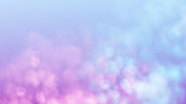 Blue and pink smoke cloud on light background