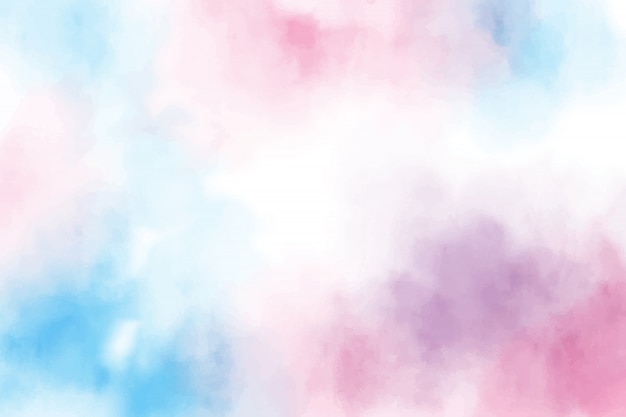 Blue and pink sweet candy watercolor background