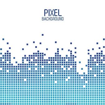 Синий фон пикселя над белым