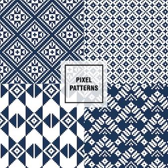 파란색 픽셀 패턴
