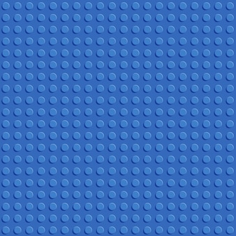 Blue plastic construction block plate seamless pattern flat design