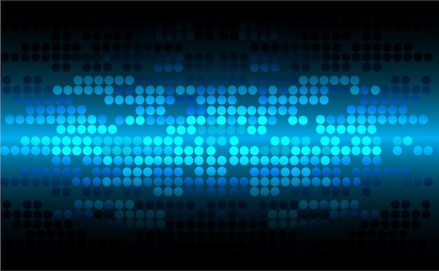 青い点のサイバーデジタル技術の概念の背景