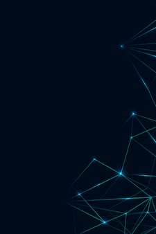 Blue polygon on dark background