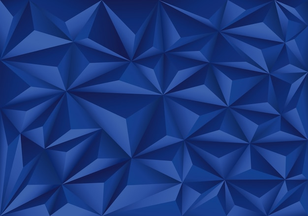Blue polygon triangle pattern modern background.