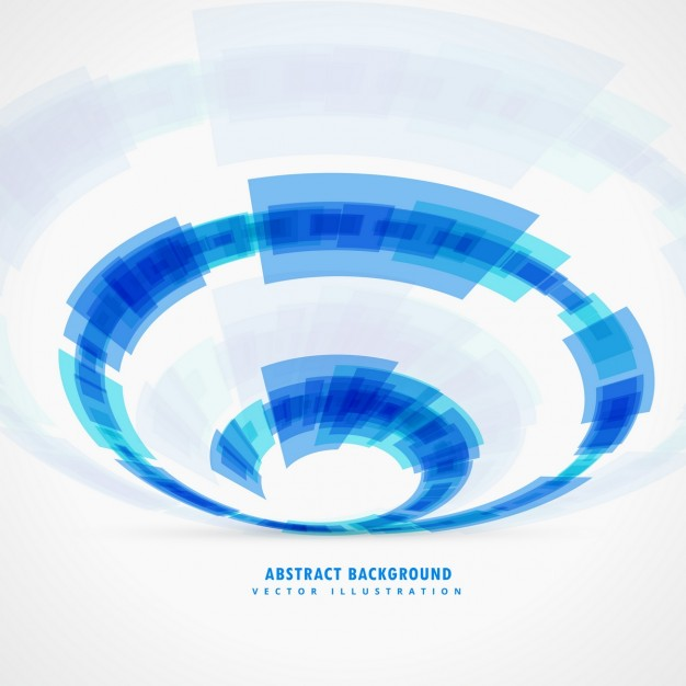 Blue polygonal background with circular shapes